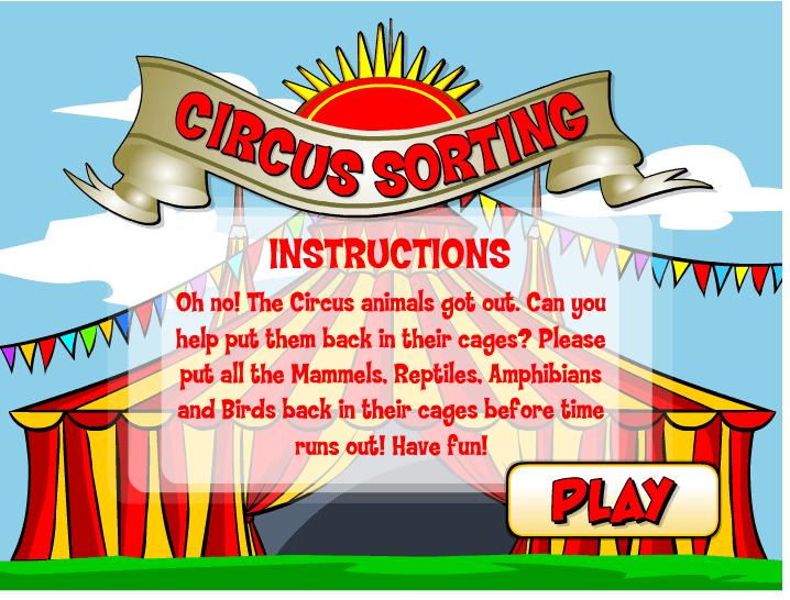 Circus Sorting Game