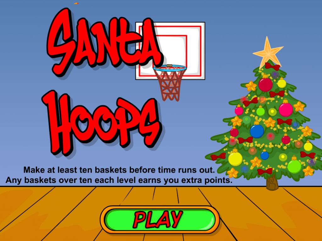 Santa Hoops Christmas Basketball Game